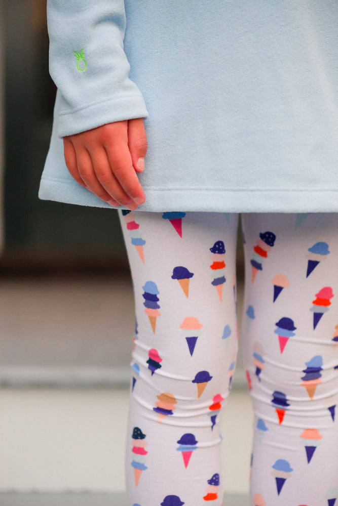 Petit Peony Leggings (Ice Cream)
