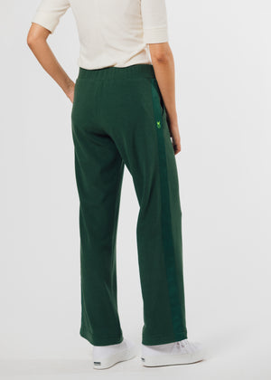 Load image into Gallery viewer, Waverly Wide Leg Pants in Terry Fleece (Hunter Green) TH