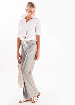 Waverly Wide Leg Pants in Terry Fleece (Heather Grey)