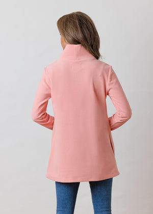 Cobble Hill Turtleneck in Terry Fleece (Island Coral)