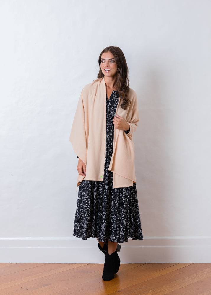 Bedford Blanket Scarf (Natural Blush) TH