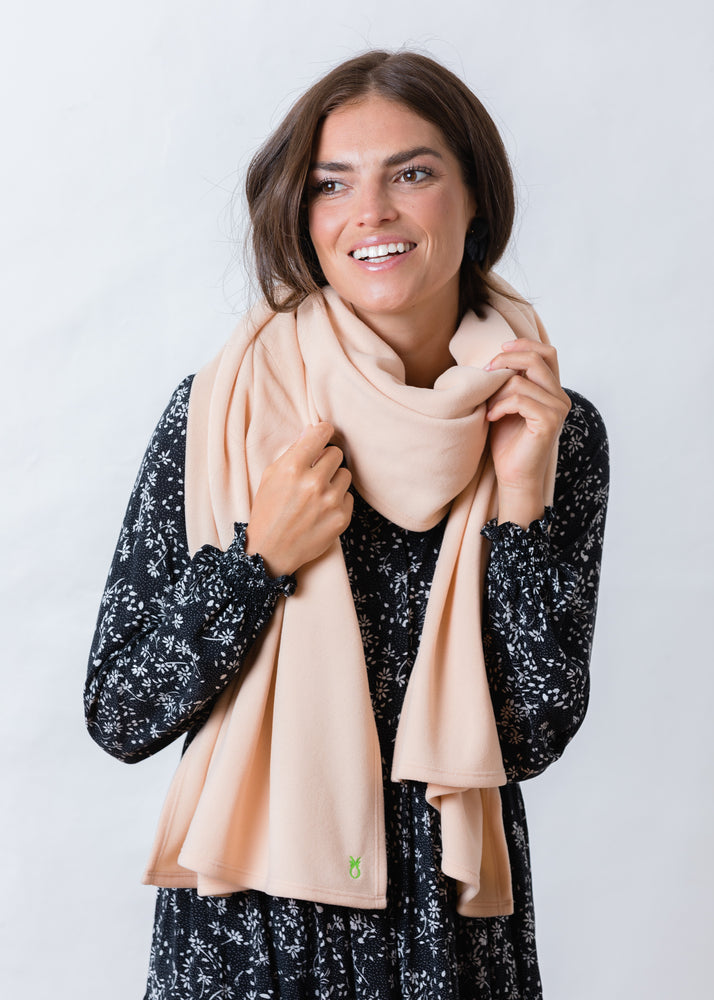 Bedford Blanket Scarf (Natural Blush)