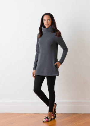 Cobble Hill Turtleneck (Steel Grey)