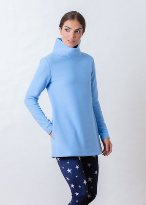 Cobble Hill Turtleneck (Periwinkle) TH