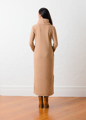 Doubling Road Dress in Vello Fleece (Camel)