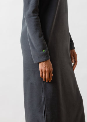 Load image into Gallery viewer, Doubling Road Dress in Vello Fleece (Steel Grey)