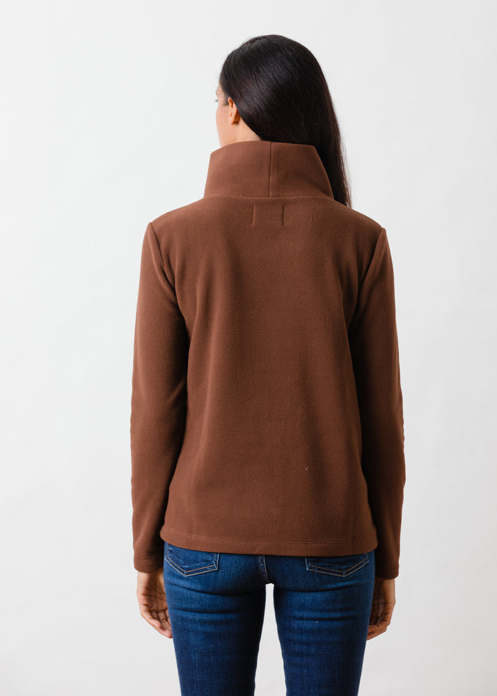Load image into Gallery viewer, Greenpoint Turtleneck in Vello Fleece (Cocoa)