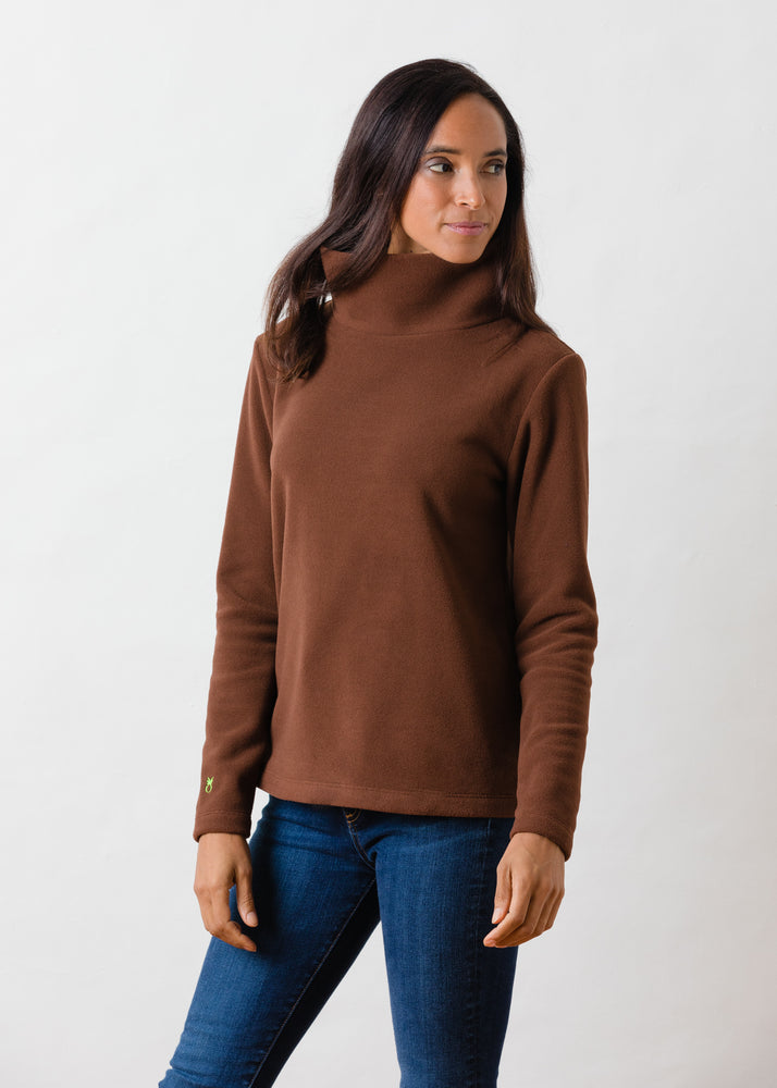 Greenpoint Turtleneck in Vello Fleece (Cocoa)