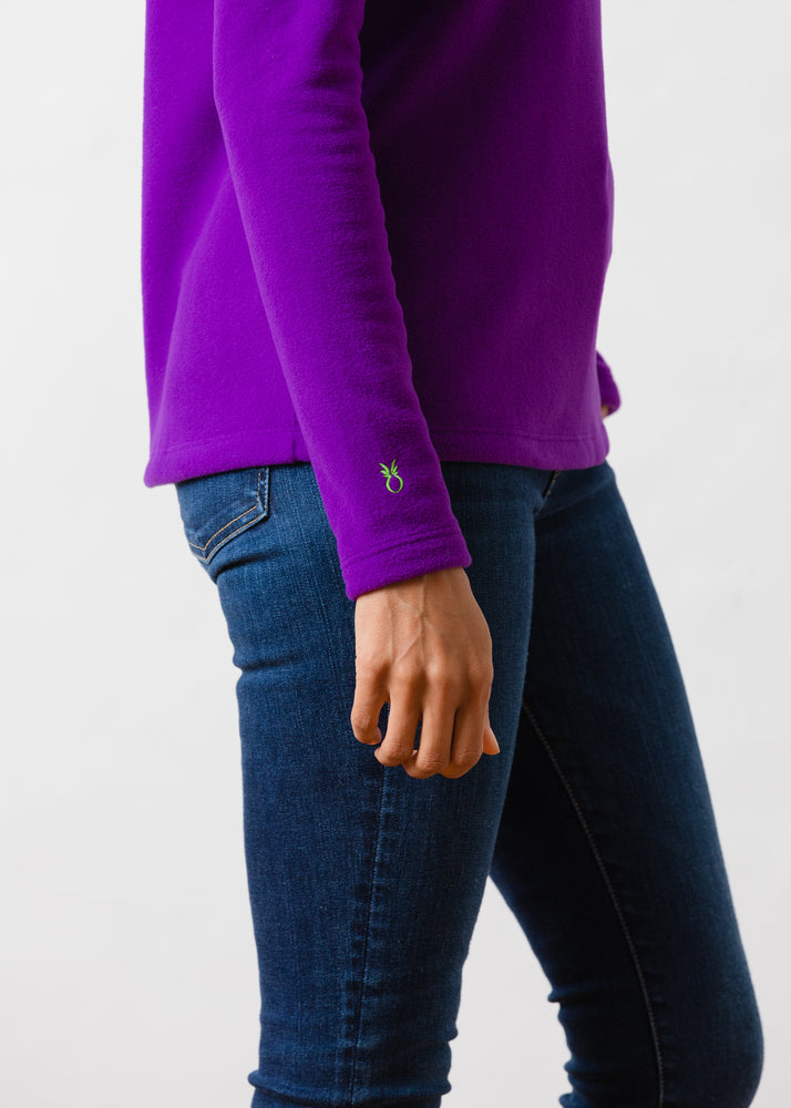 Load image into Gallery viewer, Greenpoint Turtleneck in Vello Fleece (Purple)