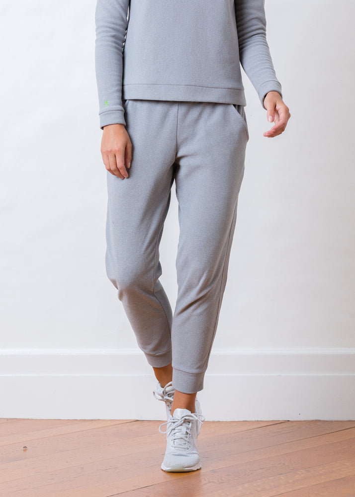 Jay Joggers in Terry Fleece (Heather Grey)