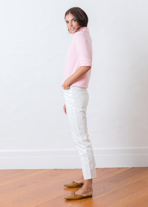 Orchard St Boatneck in Vello Fleece (Pink)