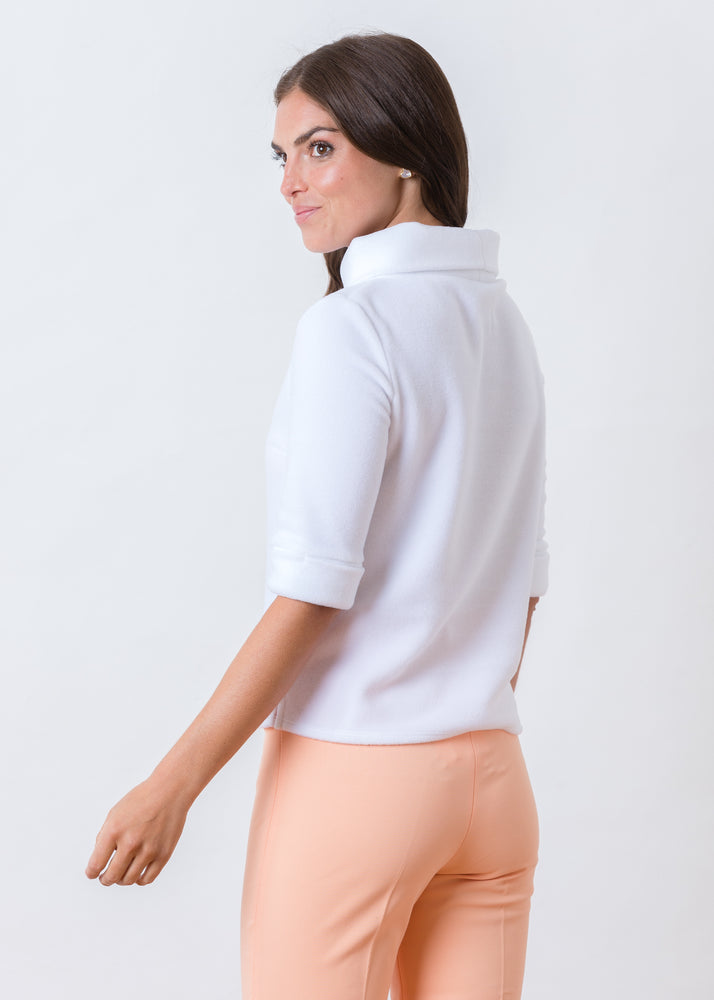 Load image into Gallery viewer, Orchard St Boatneck in Vello Fleece (White)
