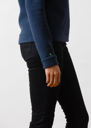 Load image into Gallery viewer, Park Slope Turtleneck in Double Layer Vello Fleece (Navy)