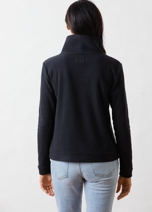 Load image into Gallery viewer, Park Slope Turtleneck in Terry Fleece (Black)