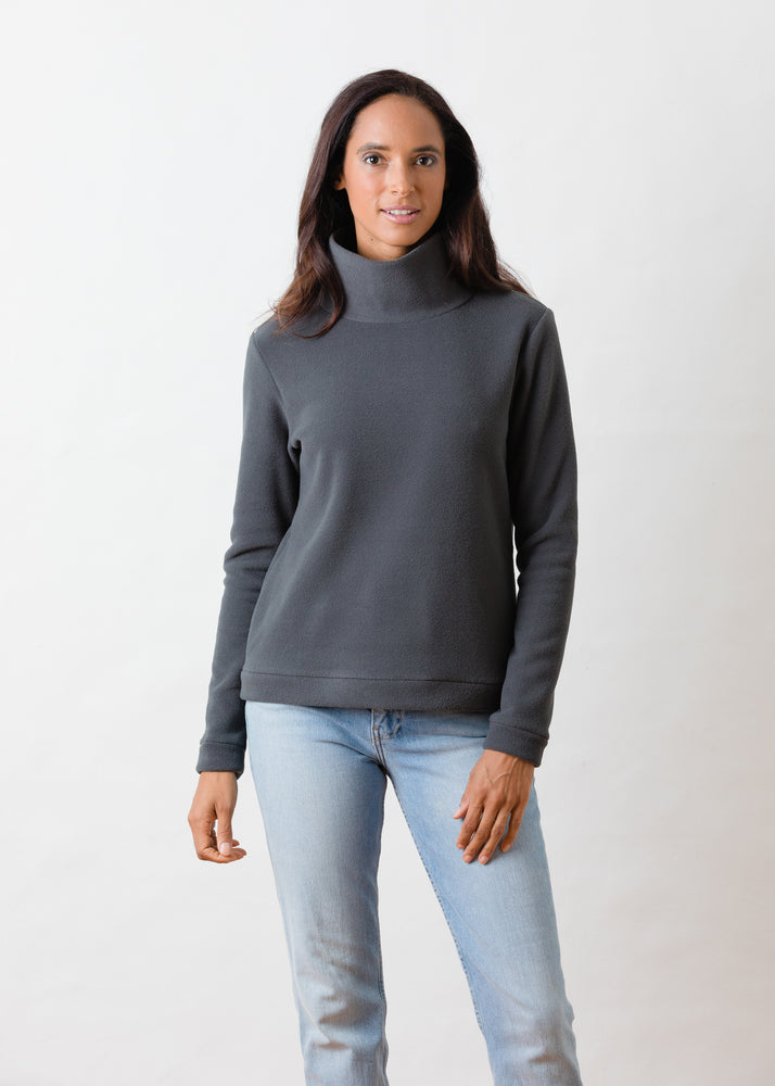 Park Slope Turtleneck (Steel Grey)