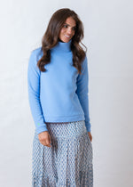 Park Slope Turtleneck (Periwinkle)