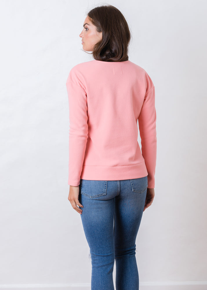 Perryridge Pullover in Terry Fleece (Island Coral)