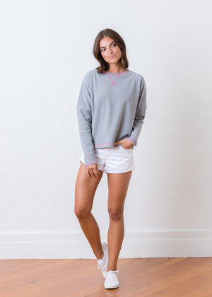 Somerset Sweatshirt in Terry Fleece (Heather Grey)