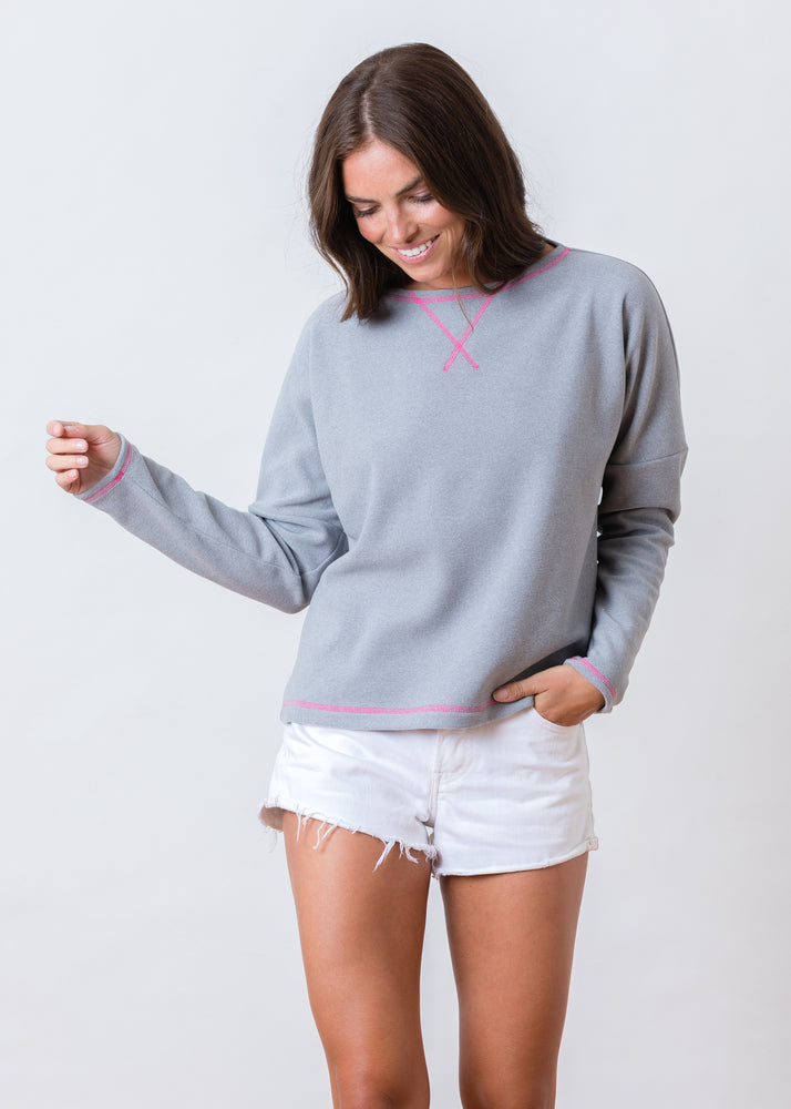 Load image into Gallery viewer, Somerset Sweatshirt in Terry Fleece (Heather Grey)