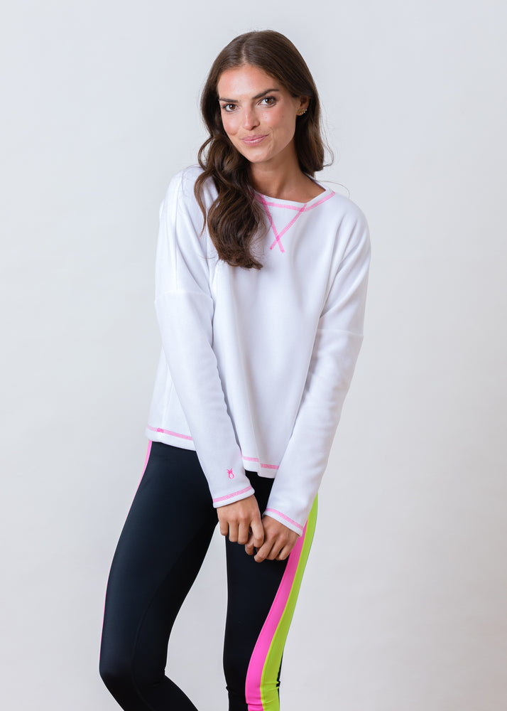 Load image into Gallery viewer, Somerset Sweatshirt in Terry Fleece (White)