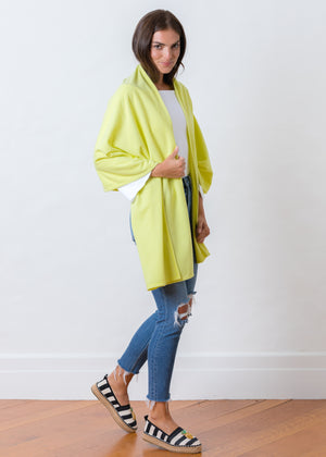 Spring Street Scarf in Ribbed Fleece (Soft Yellow)