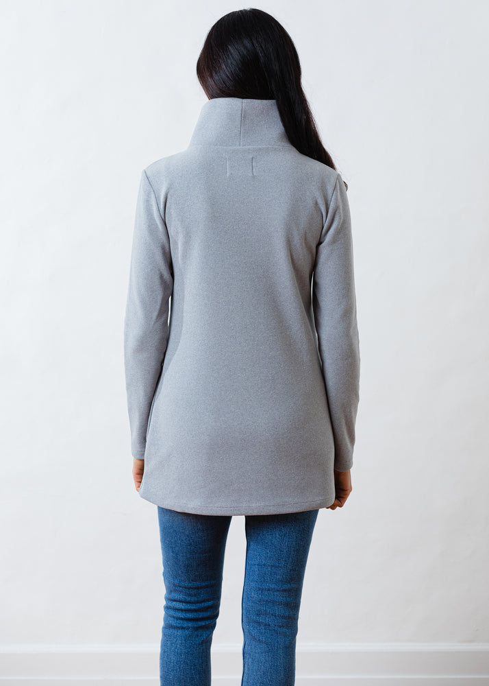 Load image into Gallery viewer, Cobble Hill Turtleneck in Terry Fleece (Heather Grey)