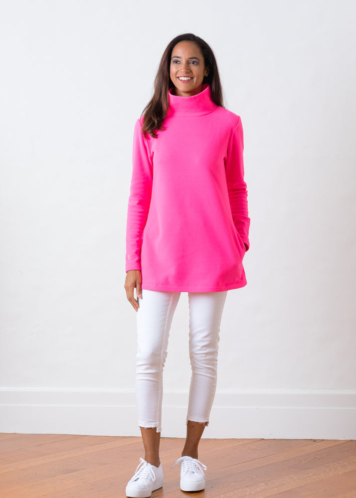 Cobble Hill Turtleneck (Neon Pink)