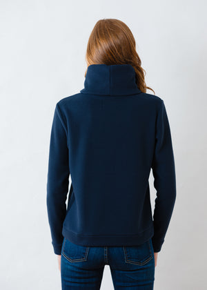Load image into Gallery viewer, Double Roll Neck Park Slope in Vello Fleece (Navy)