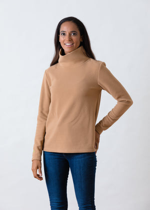 TH - Greenpoint Turtleneck in Vello Fleece (Camel)