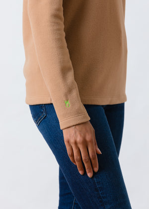Greenpoint Turtleneck in Vello Fleece (Camel)