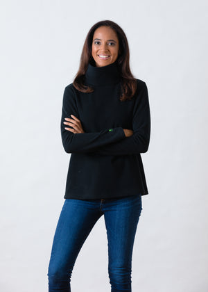 Greenpoint Turtleneck in Vello Fleece (Black)