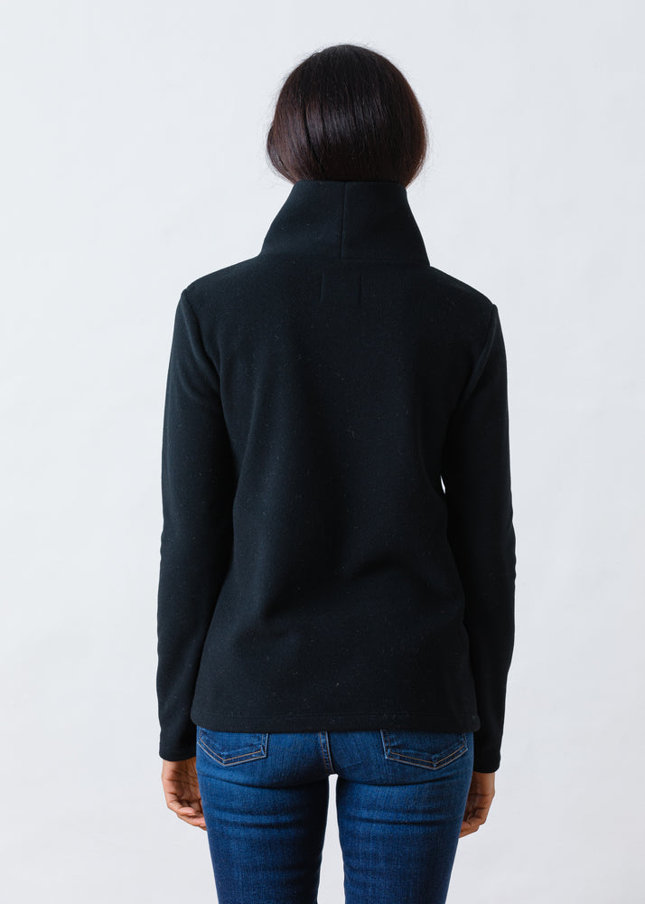 Load image into Gallery viewer, TH - Greenpoint Turtleneck in Vello Fleece (Black)