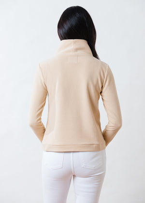 Load image into Gallery viewer, Park Slope Turtleneck in Terry Fleece (Natural Blush)
