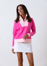 Putnam Pullover in Terry Fleece (Bubble Gum Pink / Pink)