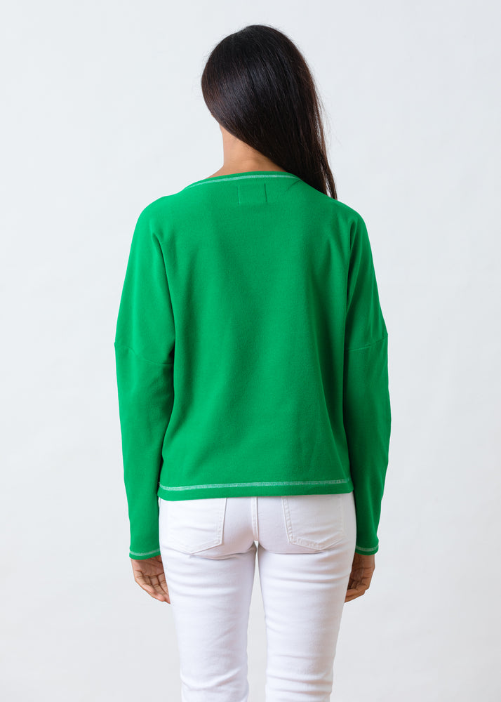 Somerset Sweatshirt in Terry Fleece (Kelly Green)