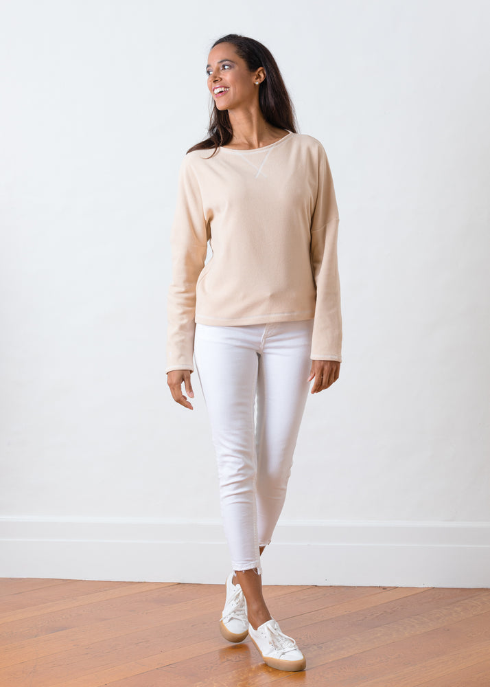 Somerset Sweatshirt in Terry Fleece (Natural Blush)