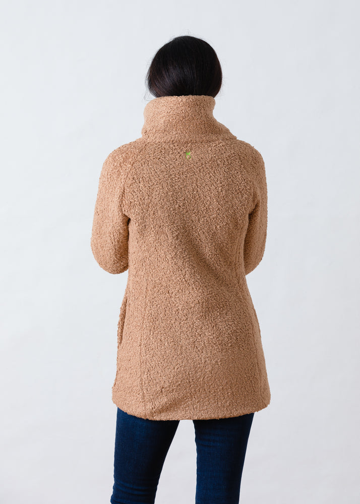 Load image into Gallery viewer, Union Street Jacket in Brushed Fleece (Caramel)