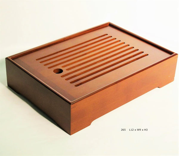Bamboo tray with horizontal slats