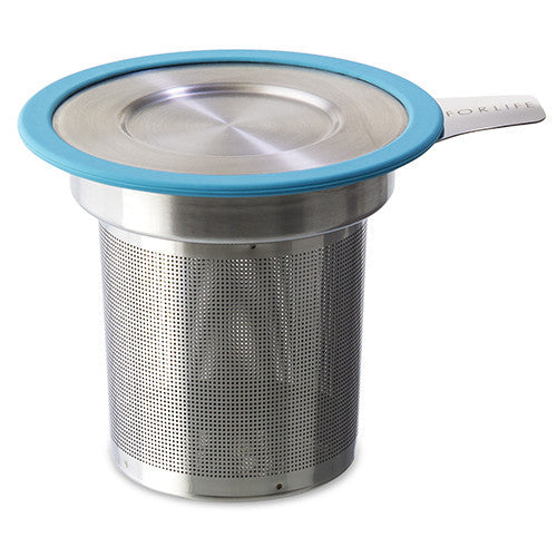 For Life Tea Infuser Basket with turqoise rim
