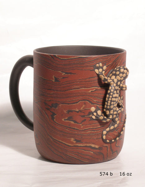 Red Lizard Mug - Yixing Clay - 15 oz