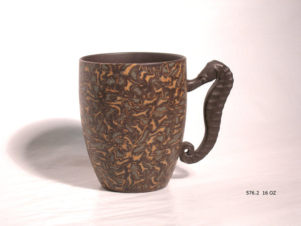 Sea Horse Mug - Yixing Clay - 15 oz