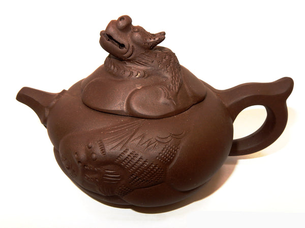 "Tryeh ""Dragon"" Yixing Clay Pot - 10 oz"