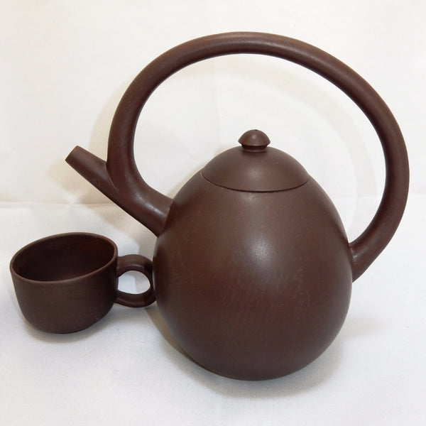 "Tryeh ""Olympiad"" Yixing Clay Pot and Cup Set - 29 oz"