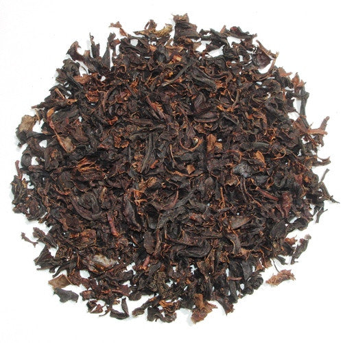 Decaf Earl Grey, reddish brown English Black Tea leaves