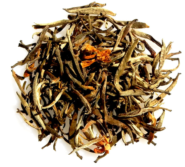 Jasmine Silver Needle Organic Chinese fuzzy white tea leaves