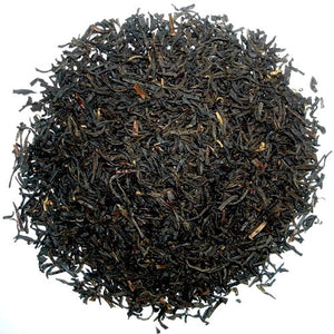 Rich, black Chinese tea leaves