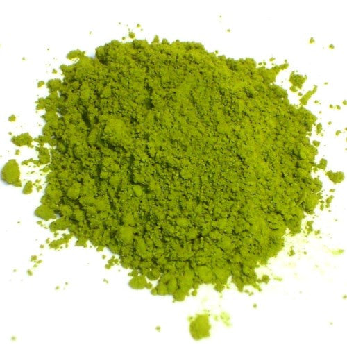 Matcha bright green Japanese powdered tea