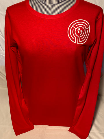 Ladies Long-sleeved T-shirt, red