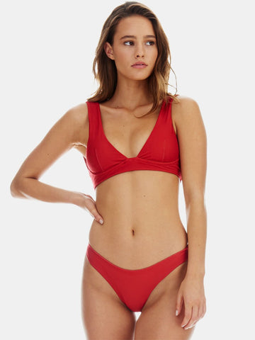 Ties bikini top in Rust (deep red) - fabric ties removed