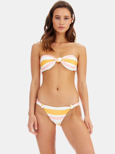 Sunset stripe (pink & yellow) Knot bikini bottoms by RH Swimwear